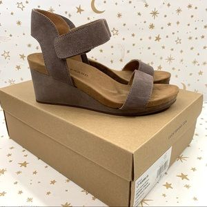 Lucky Brand | Kamila Suede Strappy Wedge Heels